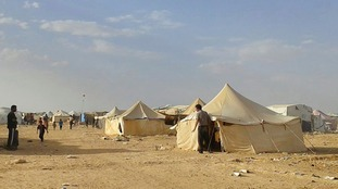 Syrian refugee camp 'hit by bomb'