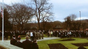 Crowds turn out to remember young soldier and father
