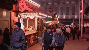 A spot of shopping at the 180 stalls
