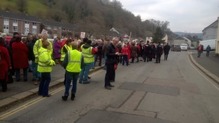 Protesters march against South Devon hospital closure