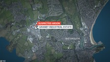 Man arrested on suspicion of arson in Weymouth