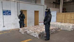 Cannabis haul worth £32m seized in farm machinery in Dublin
