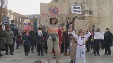 Hundreds of women join anti-Trump march in Southampton