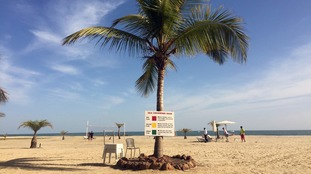 A beach in Gambia's capital Banjul