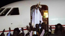 Defeated leader Jammeh leaves The Gambia