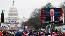 Mr Trump has disputed media estimates that about 250,000 people gathered for his inauguration