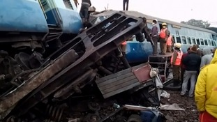 India train derailment: At least 36 killed as express comes off tracks