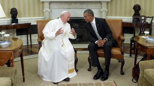 President Obama welcomed Pope Francis to the White House in 2015