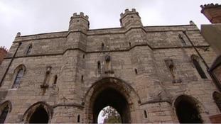 Lincoln Castle's gate house