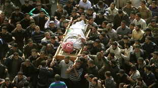 The funeral of Hamas military chief Ahmed Jaabari