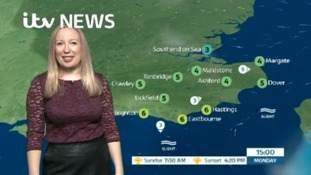 Monday's weather for the east