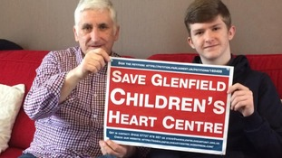 Father and son among thousands battling to save heart unit at hospital