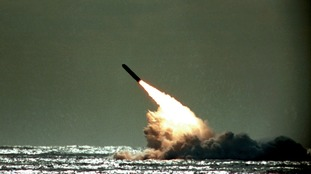 A US test launch of Trident