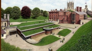 Artist impression of plans for Lincoln Castle