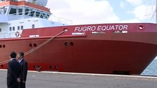 The Fugro Equator has returned to port