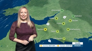 Dry and sunny with patchy fog in the West