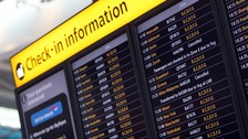 Thick fog causes dozens of flights to be cancelled