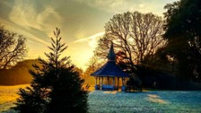 A frosty January morning in Christchurch Park in Ipswich, Suffolk.