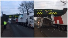 Delays due to lorry hitting bridge