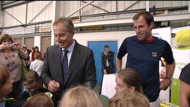 Tony Blair was set to return to the North East to mark the anniversary of his foundation