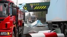 Lorry bridge crash disrupts train services