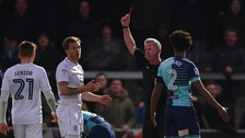 Johnny Mullins' red card proved costly for Luton.