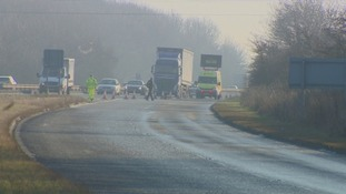 The A1018 slip road remains closed.