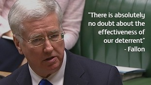 Defence Secretary Michael Fallon repeatedly refused to confirm details