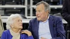Barbara and George Bush
