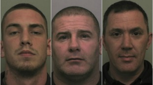 Jack Gentle, Shaun Davis and Steven Ellis have been jailed for nearly 30 years in total