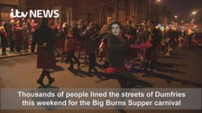 Big Burns Supper parade lights up Dumfries
