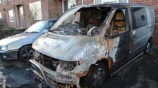 Police search for vehicle arsonists
