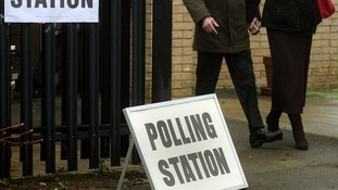 a polling station at Corby Community Centre