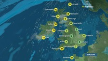 Weather: Remaining cold with some patchy rain