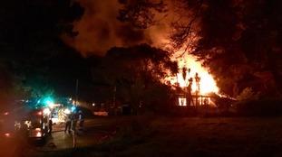 Crews tackle overnight pub fire