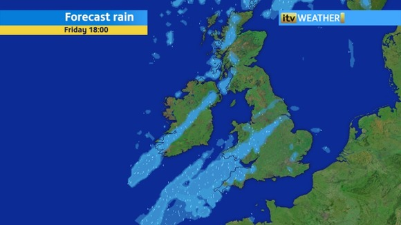 Rainfall Radar - showing the rain tonight and tomorrow