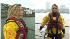 Meet the identical twins on different lifeboat crews