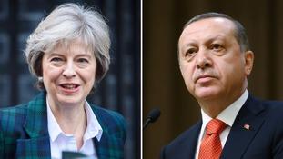 Theresa May and Recep Erdogan will meet
