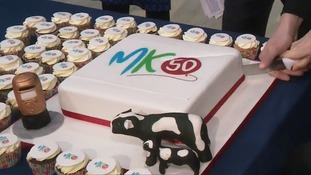 Several celebration cakes have been baked to mark 50 years of Milton Keynes.