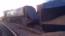Severe disruption all day as freight train derails