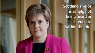Nicola Sturgeon said claims about Scotland being an 'equal partner are being exposed as nothing more than empty rhetoric'.