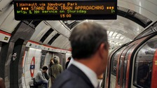 Strike action to hit Central Line Tube services
