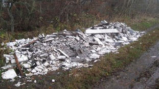 Asbestos fly tipping in the North East has cost over £10,000 in the last nine month