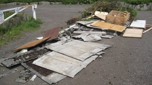 Most of the asbestos is the old corrugated sheet type used in old colliery row houses
