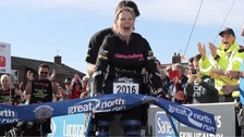 Paraplegic fundraiser Claire Lomas