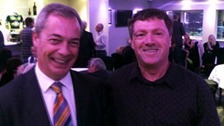 Stephen Clee with former UKIP leader Nigel Farage