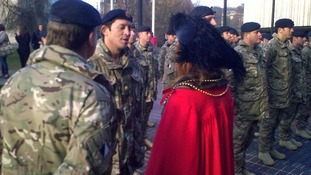 The Lord Mayors has been talking to the soldiers ahead of the parade