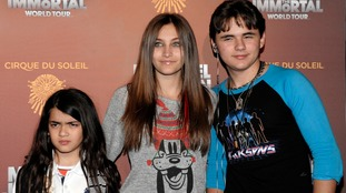Paris with her siblings Prince and Michael Jr