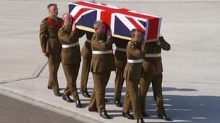 Captain Rupert Bowers was repatriated to RAF Brize Norton this afternoon