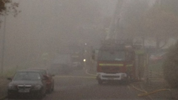 Smoke from fire in St Leonards